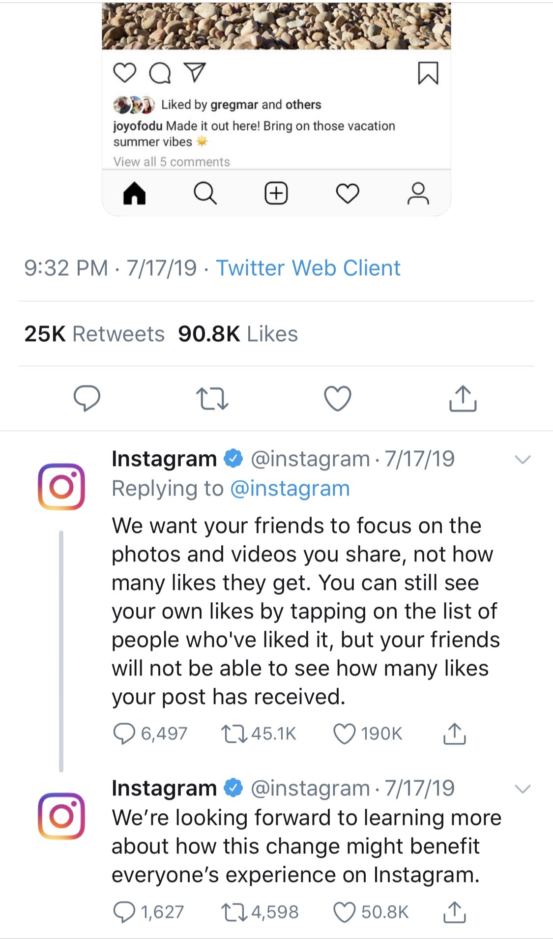Instagram is Taking Away The Like Button 4